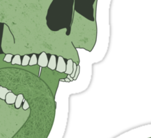 Skull Tongue [Green] (Other Colours Available) Sticker