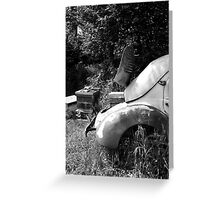 Renault 4 CV - Dauphine - Bee Hive Greeting Card