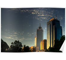 Riverside Drive Perth Skyline Poster
