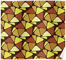 Sixties Decoration Pattern Poster