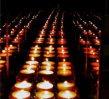 The candles come marching one by one  by mandyemblow