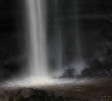 Dark Waterfall by Kay  G Larsen
