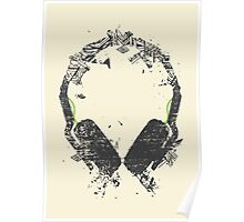 Art Headphones Poster