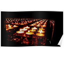 Candles on parade  Poster