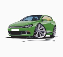 VW Scirocco (Mk3) Green by Richard Yeomans