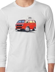VW T25 / T3 (High Top) Red Long Sleeve T-Shirt
