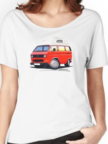VW T25 / T3 (High Top) Red Women's Relaxed Fit T-Shirt