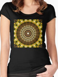 Flower Kaleidoscope I Women's Fitted Scoop T-Shirt