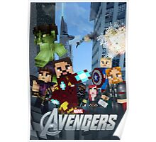 Minecraft The Avengers Poster