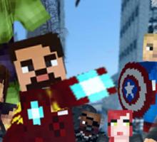 Minecraft The Avengers Sticker