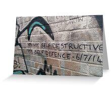 It's not self destructive - The Libertines Greeting Card