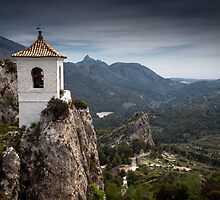Guadalest bell tower Spain by leightoncollins