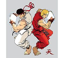 Ryu and Ken Photographic Print