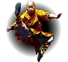 Shaolin Monk -Waaaaaaaaaaaaaah ! Photographic Print