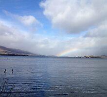 Rainbow over loch lomond by KLogan0001