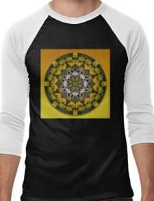 Flower Kaleidoscope II Men's Baseball ¾ T-Shirt