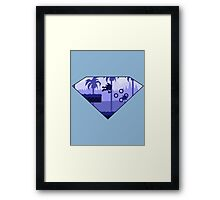Minimalist Sonic the Hedgehog - Green Hill Zone Framed Print