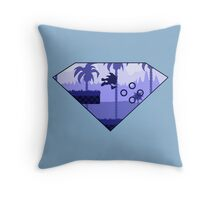 Minimalist Sonic the Hedgehog - Green Hill Zone Throw Pillow