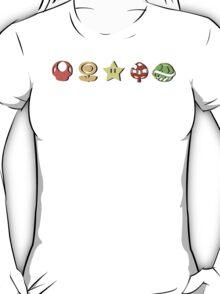 Coloured Mario Items (shadow) T-Shirt