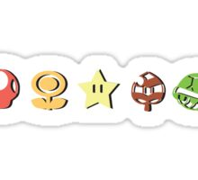 Coloured Mario Items (shadow) Sticker