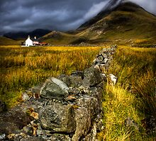 Camasunary Cottage and The Blaven ,Isle of Skye, Scotland. by photosecosse /barbara jones