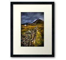 Camasunary Cottage and The Blaven ,Isle of Skye, Scotland. Framed Print