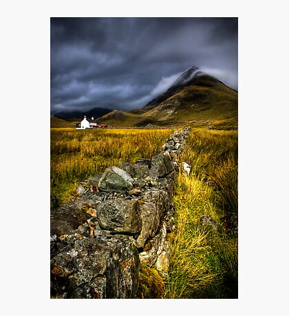 Camasunary Cottage and The Blaven ,Isle of Skye, Scotland. Photographic Print