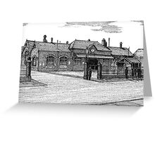172 - BLYTH RAILWAY STATION - DAVE EDWARDS - INK - 1990 Greeting Card