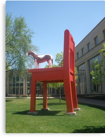 Horse on a Big Red Chair by Anthea  Slade