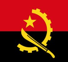 Angolan American Multinational Patriot Flag Sticker