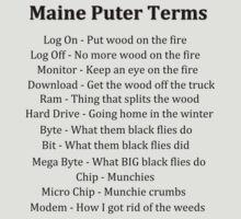 Maine Puter Terms by Judith Hayes