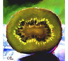 Kiwi Slice Photographic Print