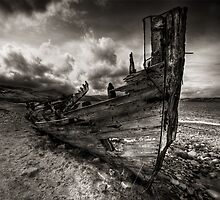 Old Fishing Boat, Talmine, Sutherland, Scotland by Martina Cross