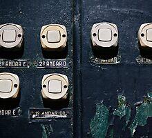 Doorbells, Lisbon, Portugal by Andrew Jones