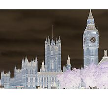 Big Ben and the House's of Parliamenrt. Photographic Print
