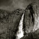 Yosemite Waterfall Portrait  by JBoyer