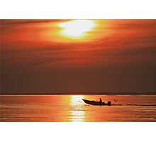 Fiery End to a Day of Fishing Photographic Print