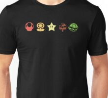 Coloured mario items  Unisex T-Shirt
