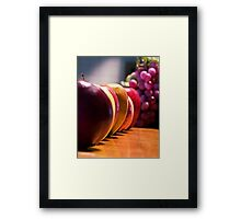 Apples and Grapes Framed Print