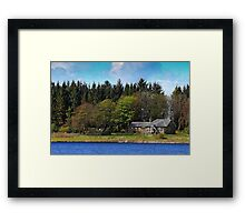 Country Landscape with Cottage Framed Print