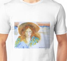 Girl in the Straw Hat Unisex T-Shirt