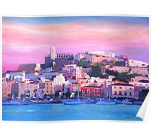 Ibiza Eivissa Old Town And Harbour Pearl Of The Mediterranean  Poster