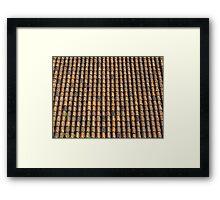 Spanish terracotta roof tiles Framed Print