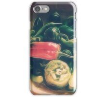 Still life with hot peppers iPhone Case/Skin
