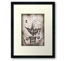 Thinking boat Framed Print