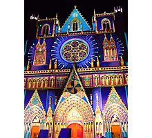 facade of the cathedral st jean in Lyon Photographic Print