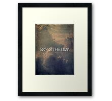 Sky is the limit 2 Framed Print