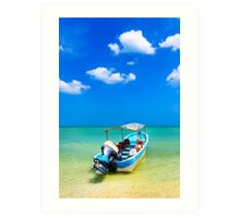 Unknown Horizons - Little Boat in the Gulf of Mexico Art Print
