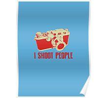 I Shoot People Camera T Shirt Poster