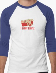 I Shoot People Camera T Shirt Men's Baseball ¾ T-Shirt
